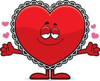 Desenhos animados Valentine Hug ilustração do vetor