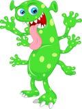 Desenhos animados verdes bonitos do monstro Foto de Stock