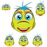 Desenhos animados verdes Dino, dinossauro, caráter no differe Imagens de Stock Royalty Free