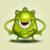 Desenhos animados verdes do monstro ilustração royalty free