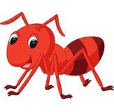 Desenhos animados vermelhos da formiga ilustração stock
