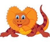 Desenhos animados vermelhos do lagarto Foto de Stock Royalty Free