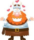 Desenhos animados Viking Hug ilustração stock
