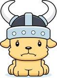 Desenhos animados Viking Puppy irritado Imagem de Stock Royalty Free