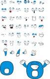 Desenhos animados zero do número Fotografia de Stock