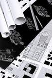 Desenhos arquitectónicos Imagens de Stock Royalty Free