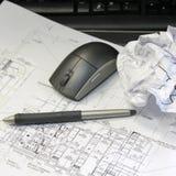 Desenhos arquitectónicos Fotografia de Stock Royalty Free