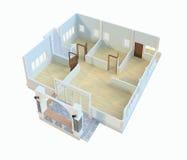 Desenhos, casas do projeto Imagem de Stock