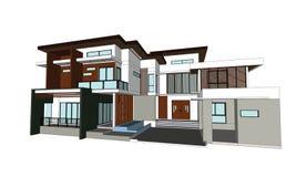Desenhos, casas do projeto Fotos de Stock