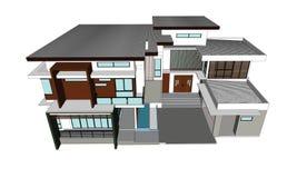 Desenhos, casas do projeto Imagem de Stock Royalty Free