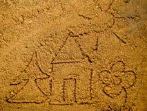 Desenhos da areia Imagens de Stock