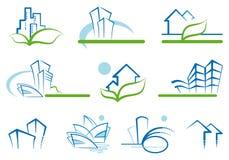 Desenhos da casa Fotografia de Stock Royalty Free