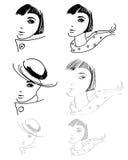 Desenhos da mão da mulher ilustração royalty free