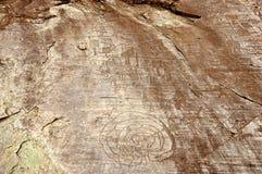 Desenhos da rocha em Valcamonica - labirinto 1 foto de stock royalty free