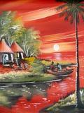Desenhos da vida dos povos africanos. Imagens de Stock Royalty Free