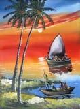 Desenhos da vida dos povos africanos. Imagem de Stock Royalty Free