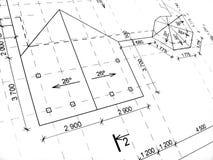 Desenhos de construção Foto de Stock