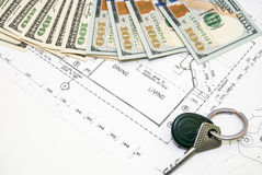 Desenhos de detalhe da engenharia para o fundo Fotografia de Stock Royalty Free