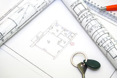 Desenhos de detalhe da engenharia para o fundo Fotos de Stock Royalty Free