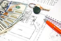 Desenhos de detalhe da engenharia para o fundo Imagens de Stock Royalty Free