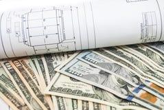Desenhos de detalhe da engenharia para o fundo Fotografia de Stock