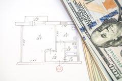Desenhos de detalhe da engenharia para o fundo Foto de Stock Royalty Free