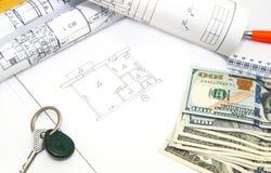 Desenhos de detalhe da engenharia para o fundo Imagem de Stock