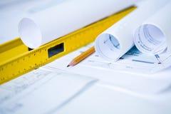Desenhos de engenharia Foto de Stock Royalty Free