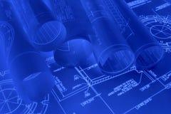 Desenhos de engenharia Fotos de Stock Royalty Free