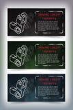 Desenhos de engenharia mecânica no quadro-negro Fotos de Stock Royalty Free