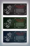 Desenhos de engenharia mecânica no quadro-negro Fotos de Stock