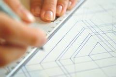 Desenhos de projeto interior imagens de stock royalty free