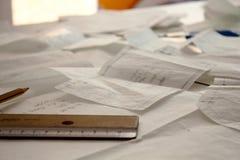 Desenhos de testes padrões da costura Imagens de Stock