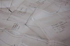 Desenhos de testes padrões da costura Foto de Stock