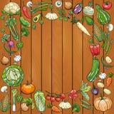Desenhos diferentes dos vegetais ilustração stock