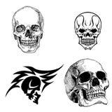 Desenhos do crânio Foto de Stock Royalty Free
