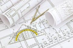 Desenhos do projeto imagem de stock