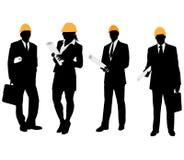 Desenhos dos arquitetos do negócio Foto de Stock