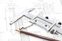 Desenhos e ferramentas Fotografia de Stock Royalty Free