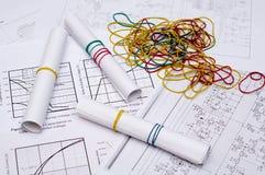 Desenhos elétricos Fotos de Stock