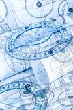 Desenhos técnicos Foto de Stock Royalty Free