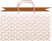 deseniowa (1) torba wzrastał Fotografia Royalty Free