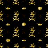 deseniowa bezszwowa czaszka Obraz Royalty Free
