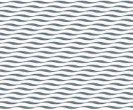 deseniowa bezszwowa fala Abstrakcjonistyczny falisty czarny i biały tło ilustracja wektor