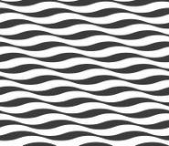 deseniowa bezszwowa fala Abstrakcjonistyczny nowożytny falisty tło Czarny i biały wyginający się linia lampasy royalty ilustracja