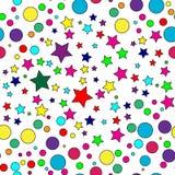 deseniowa bezszwowa gwiazda Obrazy Royalty Free
