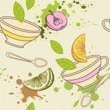 deseniowa bezszwowa herbata Obrazy Stock