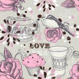 deseniowa bezszwowa herbata Zdjęcie Royalty Free