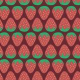 deseniowa bezszwowa truskawka Zdjęcia Royalty Free