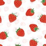 deseniowa bezszwowa truskawka Zdjęcie Stock